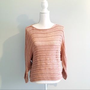 Sanctuary Surplus Blush Neutral Woven Sweater